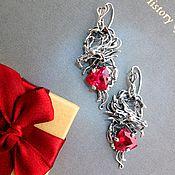 """Украшения ручной работы. Ярмарка Мастеров - ручная работа Серьги """"Dragon Heart"""". Handmade."""