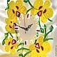 Часы для дома ручной работы. Золотая Орхидея Фьюзинг. Юля Нестерова ФЬЮЗИНГ. Интернет-магазин Ярмарка Мастеров. Орхидея