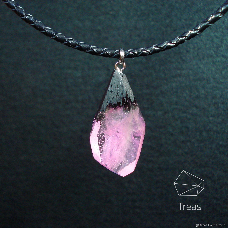 'Tenderness' - the pendant is made of black hornbeam and resin, Pendants, Mikhailovka,  Фото №1