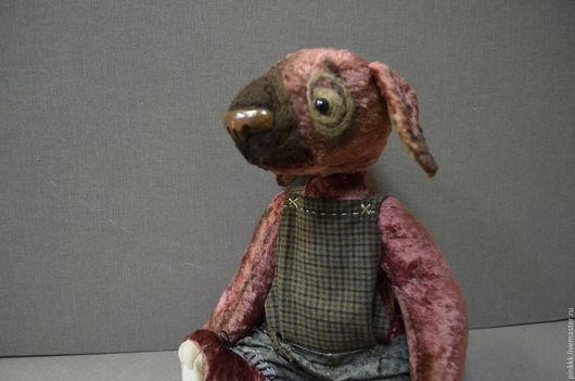 """Куклы и игрушки ручной работы. Ярмарка Мастеров - ручная работа. Купить """"Патрик"""". Handmade. Купить собаку, бордовый, мулине"""