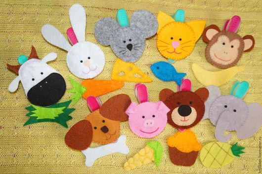 """Развивающие игрушки ручной работы. Ярмарка Мастеров - ручная работа. Купить Игра """"Кто Что ест"""" из фетра. Handmade. Комбинированный"""
