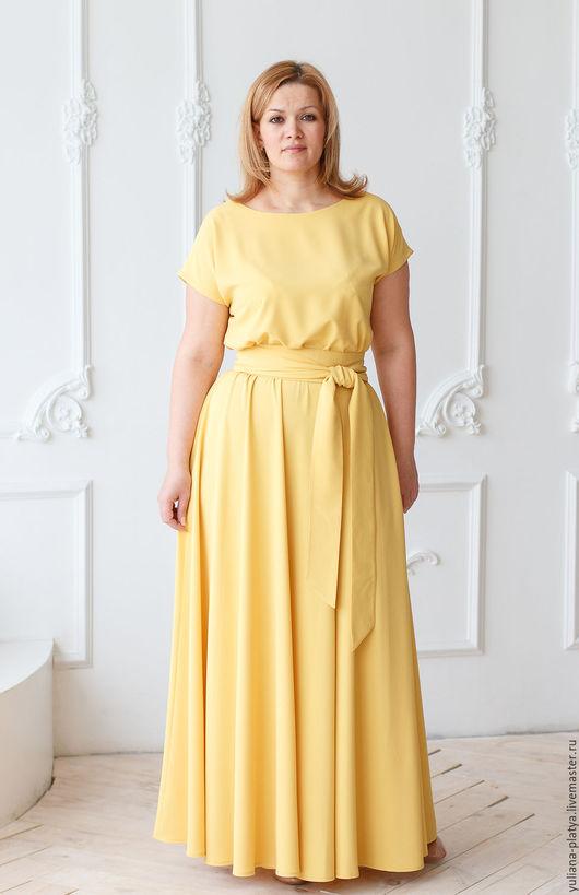 """Платья ручной работы. Ярмарка Мастеров - ручная работа. Купить Платье в пол """"Желтое очарование"""". Handmade. Желтый, платье на заказ"""