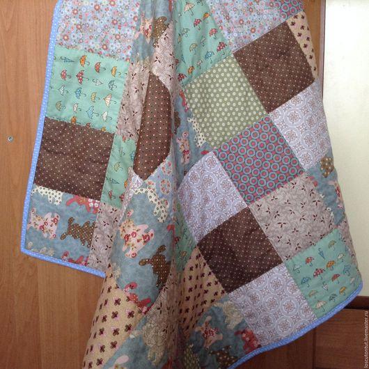 """Для новорожденных, ручной работы. Ярмарка Мастеров - ручная работа. Купить Одеяло для новорожденного """"Зайка"""". Handmade. Комбинированный, подарок новорожденным"""