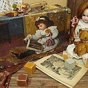 """Корзины ручной работы. Ярмарка Мастеров - ручная работа Чемодан """"Девочка и Кукла"""". Handmade."""