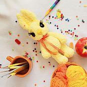 Куклы и игрушки ручной работы. Ярмарка Мастеров - ручная работа Зайчик Лучик (вязаная крючком игрушка, рост 27 см). Handmade.