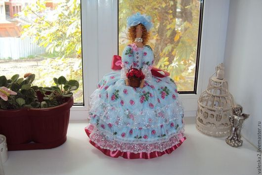 """Кухня ручной работы. Ярмарка Мастеров - ручная работа. Купить Кукла на чайник """"Именинница"""". Handmade. Кукла ручной работы"""