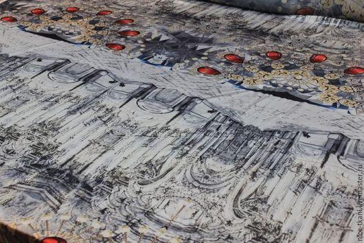 """Шитье ручной работы. Ярмарка Мастеров - ручная работа. Купить СКИДКА! 08501 искусственный итальянский шелк """"дворец"""". Handmade. Комбинированный"""