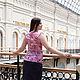 Блузки ручной работы. Заказать Шифоновая блузка с жабо  - нежно-розовый. Радченко Екатерина. Ярмарка Мастеров. Блузка, блузка с жабо