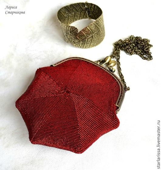 Женские сумки ручной работы. Ярмарка Мастеров - ручная работа. Купить Маленькая бисерная сумочка-кошелек резерв. Handmade.