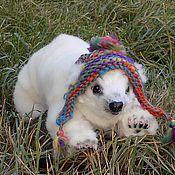 Куклы и игрушки ручной работы. Ярмарка Мастеров - ручная работа Умка, Белый Медвежонок, подвижная игрушка. Handmade.