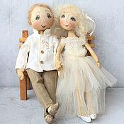 Куклы и игрушки ручной работы. Ярмарка Мастеров - ручная работа СВАДЕБНЫЕ куколки:). Handmade.