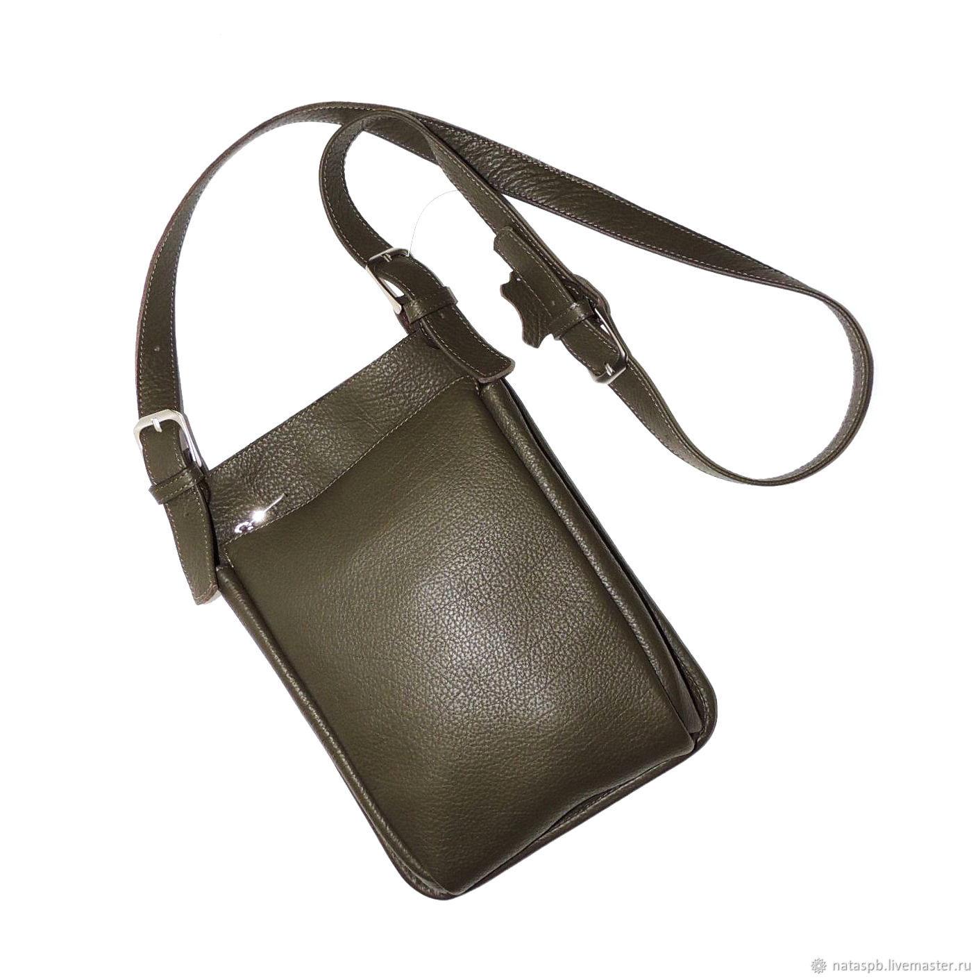 Bag men's leather khaki Icarus Mod C63-531, Men\'s bag, St. Petersburg,  Фото №1