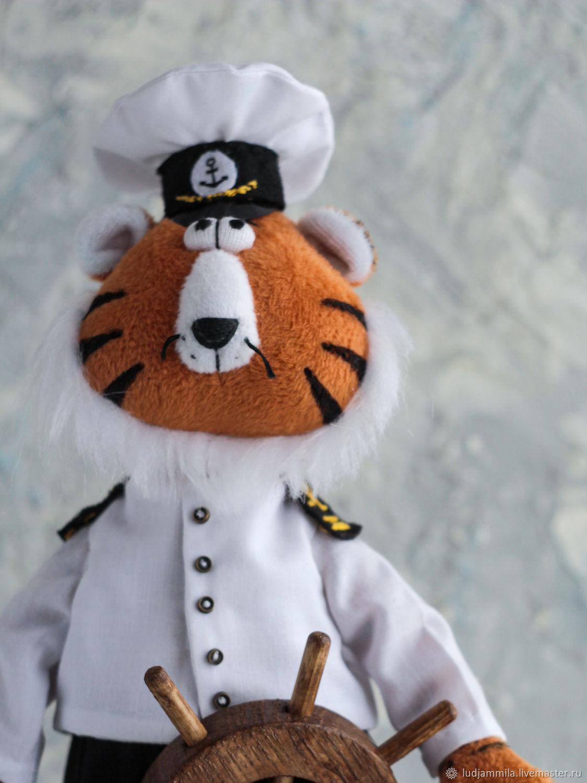 Тигр - капитан, Мягкие игрушки, Приморско-Ахтарск,  Фото №1