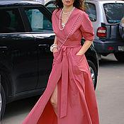 Одежда handmade. Livemaster - original item Shirt dress, cotton, with a long skirt