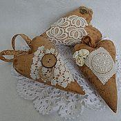 Для дома и интерьера ручной работы. Ярмарка Мастеров - ручная работа Сердечки кофейные. Handmade.