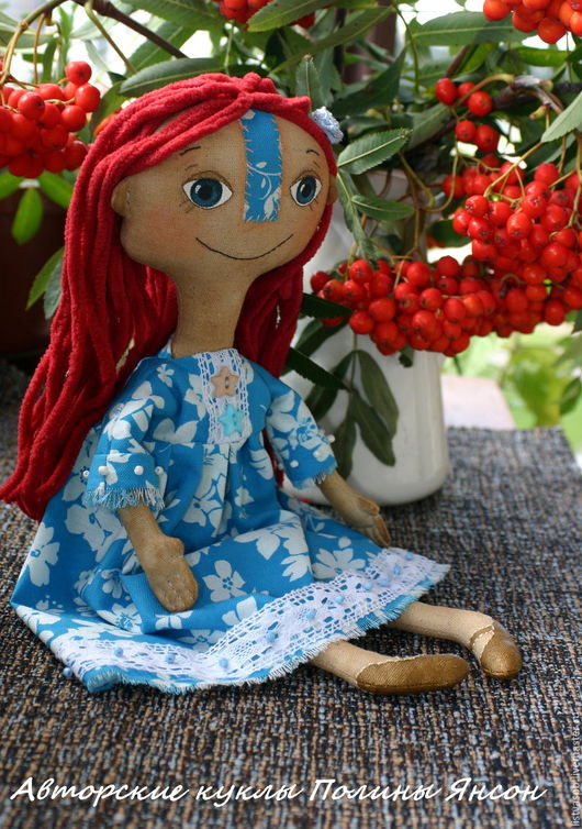 Коллекционные куклы ручной работы. Ярмарка Мастеров - ручная работа. Купить Чердачная авторскаям интерьерная кукла текстильная ручная работа. Handmade.