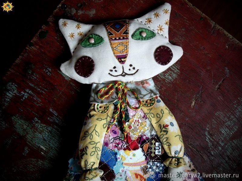 Кукла лоскутная - кошечка Амина, Игрушки, Топчиха, Фото №1