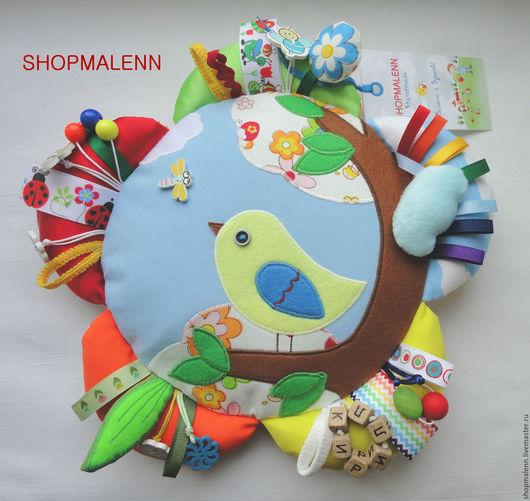 Развивающие игрушки ручной работы. Handmade. Интернет-магазин Ярмарка Мастеров. Игрушка Ромашка с птичкой. Shopmalenn. Развивающие игрушки. Игрушки ручной работы. Игрушки для новорожденных.
