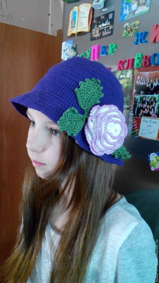 """Шляпы ручной работы. Ярмарка Мастеров - ручная работа. Купить стильная шляпка """"Эффекшен"""" детская. Handmade. Комбинированный, шапка весенняя"""