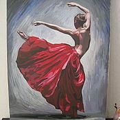 Картины и панно ручной работы. Ярмарка Мастеров - ручная работа Танцовщица. Handmade.