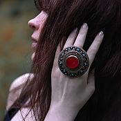Украшения handmade. Livemaster - original item Large carnelian rings. Handmade.