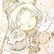 Картины и панно handmade. Livemaster - original item angel. Handmade.