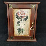 Для дома и интерьера ручной работы. Ярмарка Мастеров - ручная работа Ключница ,,Старый сад,, ключница для ключей. Handmade.