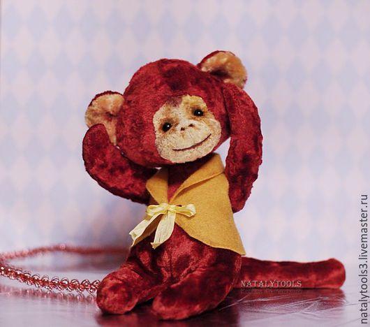 Мишки Тедди ручной работы. Ярмарка Мастеров - ручная работа. Купить Red Monkey Красная обезьянка. Огненная обезьяна символ 2016 года. Handmade.