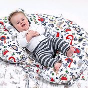 Подушка для кормления ручной работы. Ярмарка Мастеров - ручная работа Подушка для кормления и сна ребенка.. Handmade.