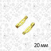 Заготовки для украшений ручной работы. Ярмарка Мастеров - ручная работа Основа для броши, 20 мм, золото, замок-крючок. Handmade.