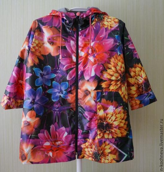 Одежда для девочек, ручной работы. Ярмарка Мастеров - ручная работа. Купить Детский плащ с огромными цветами. Handmade. Разноцветный