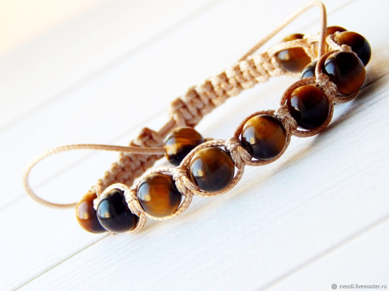 Bracelet-talisman from damage and the evil eye of the tiger eye, Bead bracelet, Minusinsk,  Фото №1