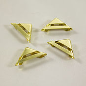 Материалы для творчества handmade. Livemaster - original item Angles, metal, gold color, 4 PCs. Handmade.