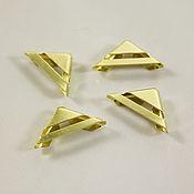 Материалы для творчества handmade. Livemaster - original item Angles, metal, gold color, 4 PCs. Handmade.