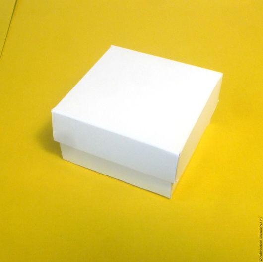 """Упаковка ручной работы. Ярмарка Мастеров - ручная работа. Купить Коробка 6х6х3 """"крышка-дно"""" белый мелованный картон. Handmade."""