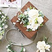 Свадебный салон ручной работы. Ярмарка Мастеров - ручная работа Сундучок для колец в стиле рустик, шкатулка для колец. Handmade.