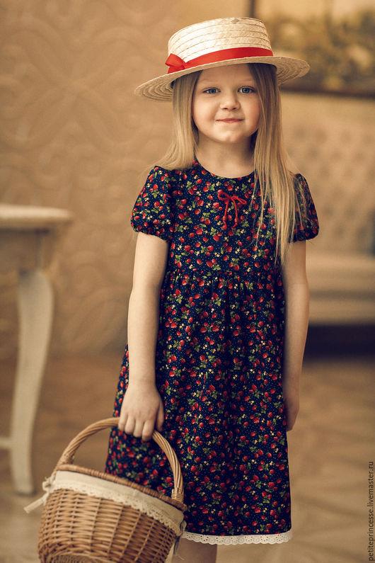 """Одежда для девочек, ручной работы. Ярмарка Мастеров - ручная работа. Купить платье """"Машенька"""". Handmade. Ярко-красный, petite princesse"""