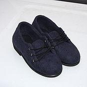 Обувь ручной работы. Ярмарка Мастеров - ручная работа Полуботинки валяние - Синие. Handmade.