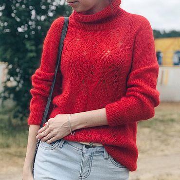 Материалы для творчества ручной работы. Ярмарка Мастеров - ручная работа Мастер - класс по вязанию свитера Sakura, вязаный свитер. Handmade.