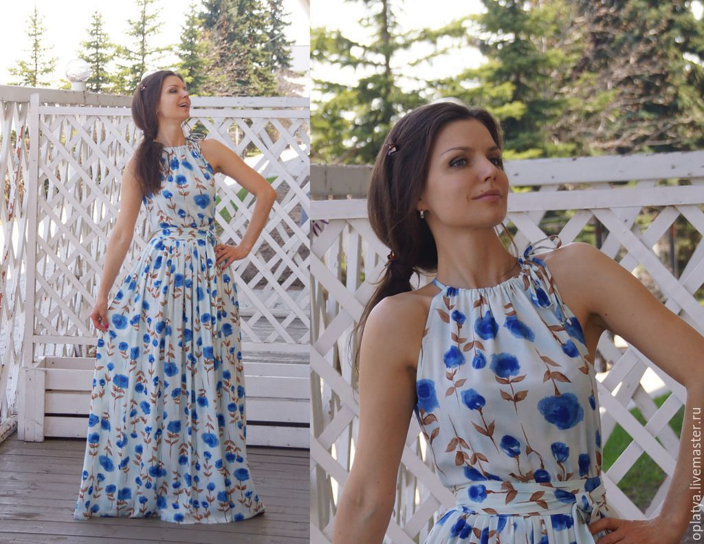 Мастер-класс длинное платье