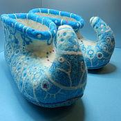 """Обувь ручной работы. Ярмарка Мастеров - ручная работа Тапки валяные домашние """"Снегурки"""". Handmade."""