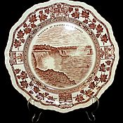 """Винтаж handmade. Livemaster - original item Старинная, декоративная тарелка """"Ниагара"""", Masons, Англия. Handmade."""
