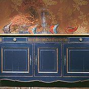 Для дома и интерьера ручной работы. Ярмарка Мастеров - ручная работа Комод синий с патиной бронза. Handmade.