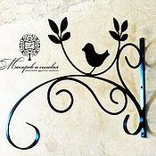Цветы и флористика handmade. Livemaster - original item Wall mount bracket for planters Bird. Handmade.