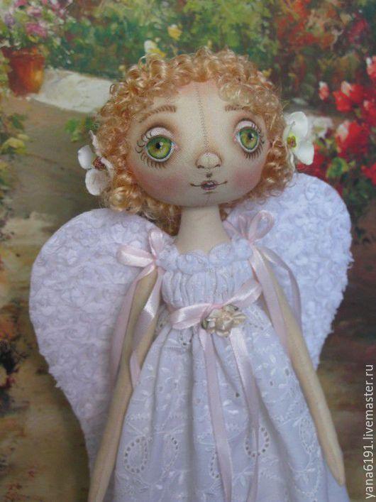 Куклы тыквоголовки ручной работы. Ярмарка Мастеров - ручная работа. Купить Летний ангел.. Handmade. Белый, кукла в подарок
