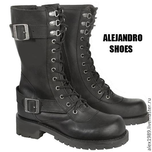 """Обувь ручной работы. Ярмарка Мастеров - ручная работа. Купить Ботинки """"POWER"""". Handmade. Черный, обувь ручной работы, ботинки"""