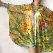 Одежда ручной работы. Ярмарка Мастеров - ручная работа Хочу лето батик на шелке блузка. Handmade.