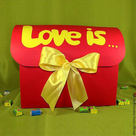 """Свадебные аксессуары ручной работы. Ярмарка Мастеров - ручная работа. Купить Семейный банк """"Love is..."""". Handmade."""