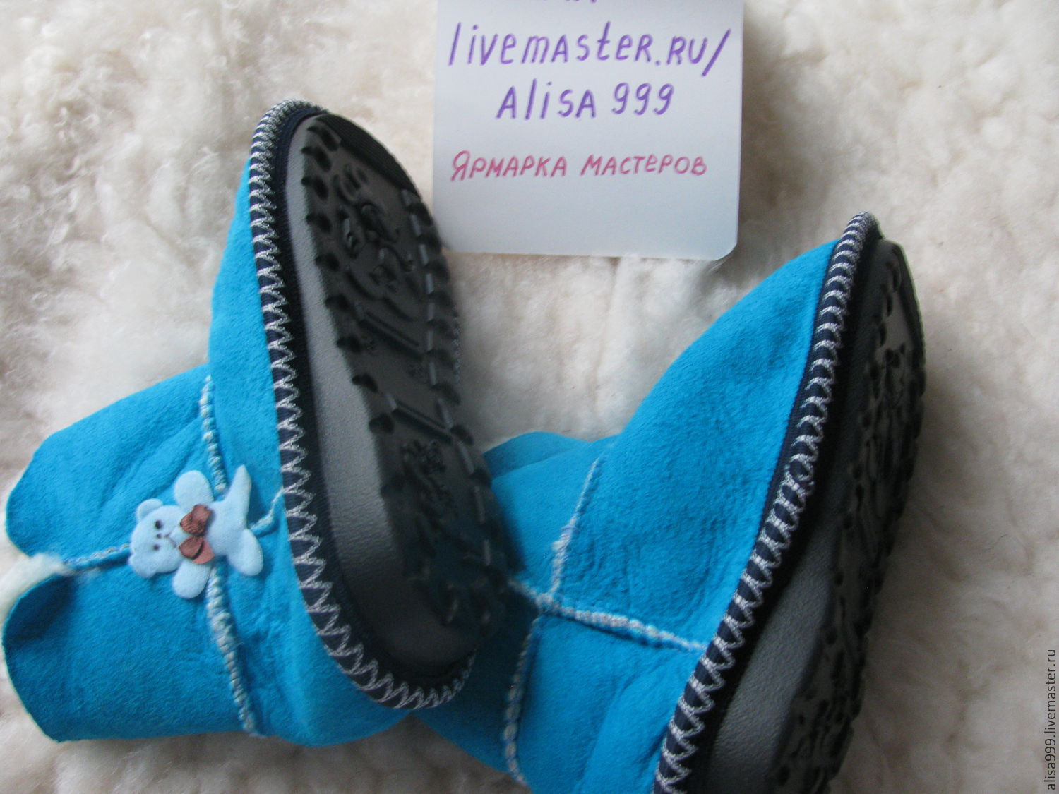 Fur homemade ugg boots.Solid sole, Footwear for childrens, Moscow,  Фото №1
