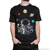 """Одежда handmade. Livemaster - original item Футболка хлопковая """"Космический Жонглер"""". Handmade."""